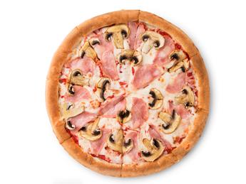 Pizza Prosciutto and  funghi - 25 cm