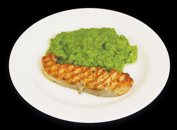 Salmon and broccoli mash