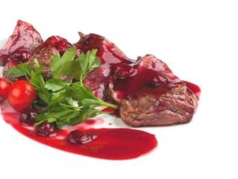 Veal tenderloin with cherry