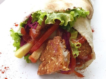 Fish Schnitzel Kebab