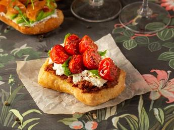 Bruschetta with ricotta and tomatoes