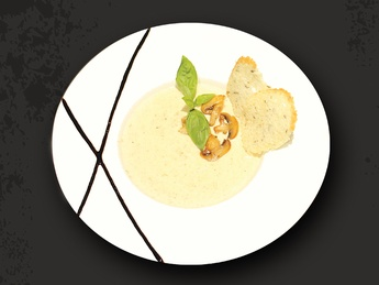Cream soup with mushrooms