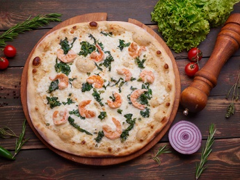 Pizza Shrimp and Spinach