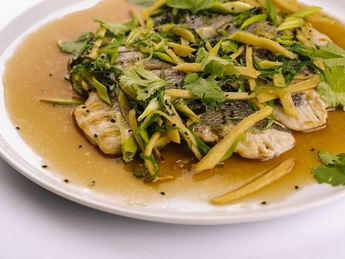 Asian-style dorado fillet with green onions