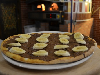 Foccacia with Nutella and bananas
