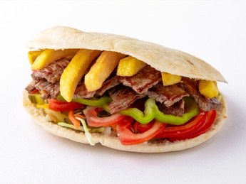 Pita with beef