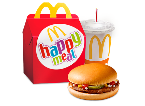 Happy Meal with Hamburger