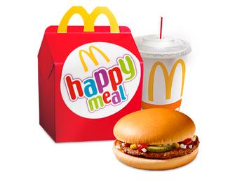 Happy Meal with Hamburger