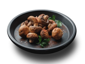 Champignons on a grill (1 serving)