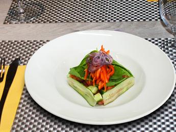 Tartar from fresh vegetables