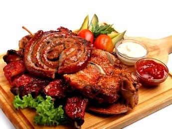 Kozlovna's beer special meat platter