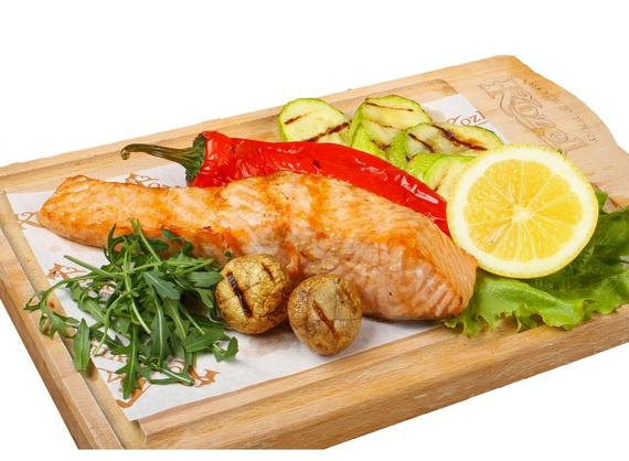 Salmon fillet  in white wine