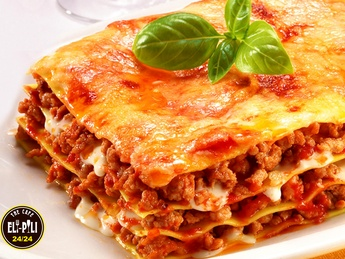 Lasagna with chicken meat