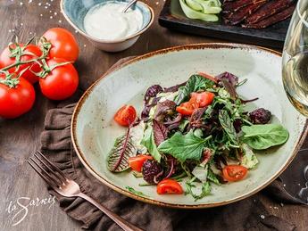 "Salad with basturma and cream sauce ""Yerevan"""