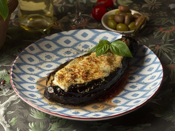 Josper baked eggplant