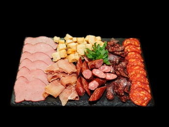 Dried meat plate