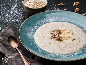 Banana-cream porridge