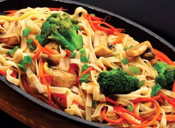 Tăiței udon cu legume