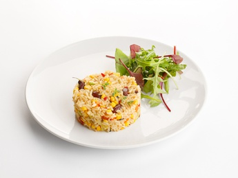 Steer-fry rice with vegetables