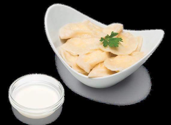 Potato Dumplings with Sour Cream