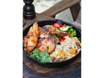 Moroccan-style chicken and couscous