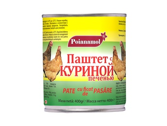 POIANAMOL Pate with poultry liver 400g