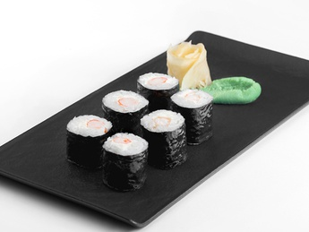 Maki with cheese and shrimp