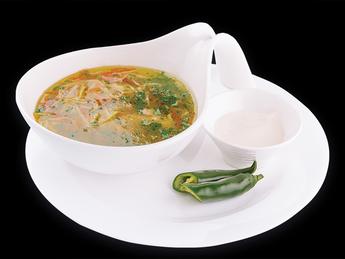 "Chicken soup ""Zeama"""
