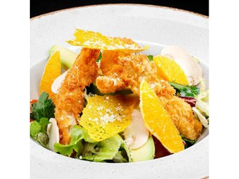 Chicken and curry salad