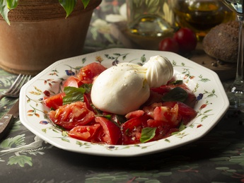 Buratta with farm tomatoes