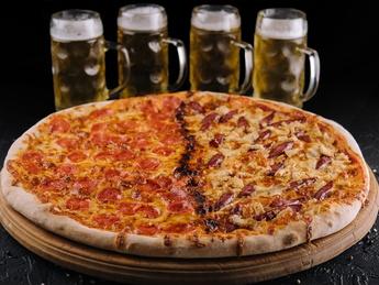 Pizza DUO BBQ & DIABLO, 2l of beer Draft Blonde