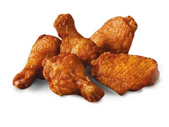 5 BBQ chicken wings