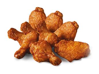 8 BBQ chicken wings