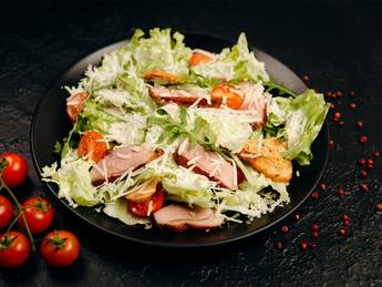 Caesar salad with duck
