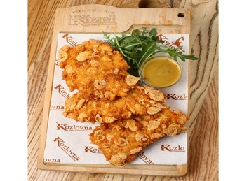 Chicken fillet in Kozel beer batter
