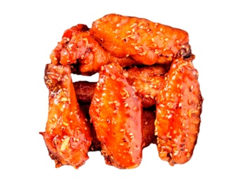 Chicken wings with honey-mustard sauce [44]
