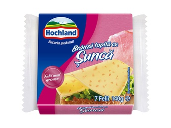 HOCHLAND Melted cheese sliced ham 140g