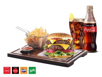 Big Boss Double Burger + French fries + Drink