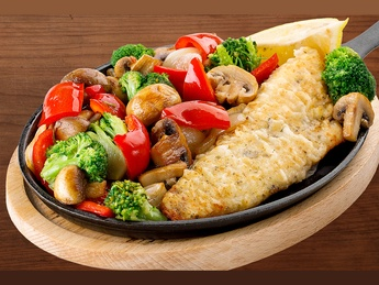 Pike perch with vegetables