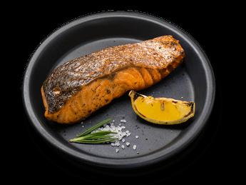 Grilled salmon steak (1 serving)
