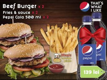 Combo Double Beef Burger