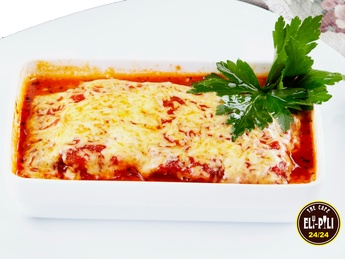 Lasagna with veal meat