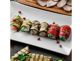 Assorted vegetable rolls à la Arges