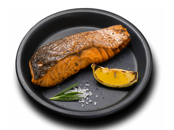 Grilled salmon steak (10 servings)