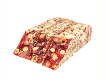 Pomegranate Turkish delight with hazelnuts