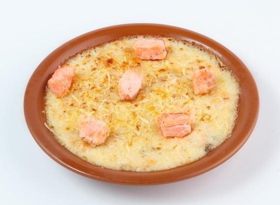Mousse di patata con salmone