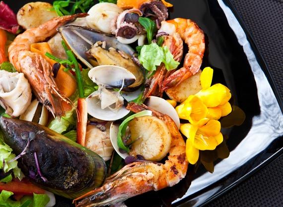 Салат Morimoto с морепродуктами