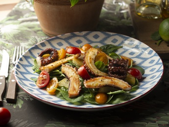 Salad with potatoes and octopus