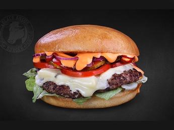 Blue cheesburger