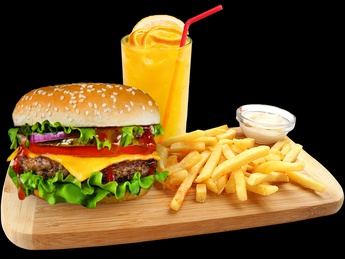 Combo beef burger with cheese